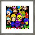Masters Of The Universe Collage Framed Print