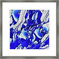 Material Evidence In Blue And White Framed Print