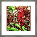 Maui Tropical Floral Framed Print