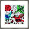 Mayan Birds Framed Print