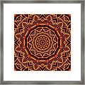 Mayan Sun God Framed Print