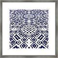 Maze Pattern Framed Print
