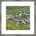 Mediterranean Village On Island Of Vis Framed Print
