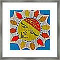 Memory Game Sun Framed Print
