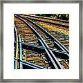 Merging Tracks Framed Print