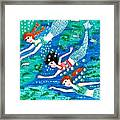 Mermaid Race Framed Print by Sushila Burgess