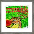 Merry Christmas Reindeer Framed Print
