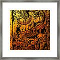 Mesoamerican  Mayan Figure Eight Century Mexico Framed Print