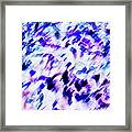 Mess In Blue Tones Framed Print