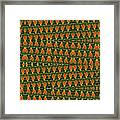 Mexican Poppy Field Abstract Framed Print