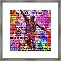 Michael Air Jordan Motivational Inspirational Independent Quotes 3 Framed Print