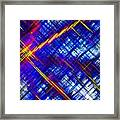 Micro Linear 6 Framed Print