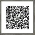 Microscopic Abstract Shapes Framed Print