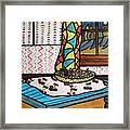Midnight In The Kitchen Framed Print