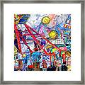 Midway Amusement Rides Framed Print