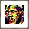 Mike Tyson Abstract Framed Print