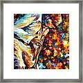 Miles Davis - Gold Trumpet Framed Print
