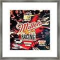 Miller Racing Sign 25th Year Framed Print