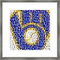Milwaukee Brewers Mosaic Framed Print by Paul Van Scott