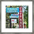 Miranda Gardens Framed Print