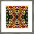 Mirrored Inferno Framed Print