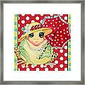 Miss Belle Frog Framed Print