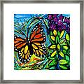 Monarch With Milkweed Framed Print