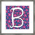 Monogram B Framed Print