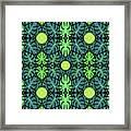 Monstera Leaves Pattern Framed Print