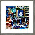 Montreal City Paintings By Streetscene Specialist Carole Spandau  Over 500 Prints Available Framed Print