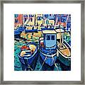 Moored In Monopoly Framed Print