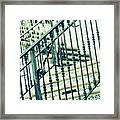 Mosaic And Iron Staircase La Quinta California Art District In Mint Tones Photograph By Colleen Framed Print