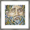 Mosaic Face Fountain Detail Framed Print