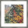 Mosaic Foliage Framed Print