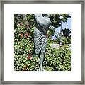 Mother Child Statue Framed Print