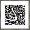 Motorcycle Reds Framed Print