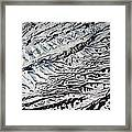 Mountains Patterns. Aerial View Framed Print