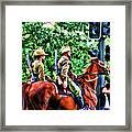 Mounted Infantry Framed Print
