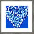 Moveonart Electric Blu Heart 1 Framed Print
