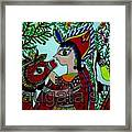 Love And Worship For Cow Framed Print