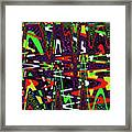 Multi Color Abstract Framed Print