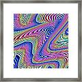 Multicolor Swirls Framed Print