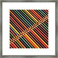 Multicolored Pencils In Rows Framed Print