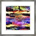 Multiple Underwater Sunsets Framed Print