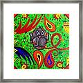 Mun Moji-hookah Monkey Framed Print