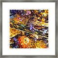 Music And Wine - Palette Knife Oil Painting On Canvas By Leonid Afremov Framed Print
