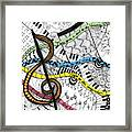 Music Gives Life Framed Print