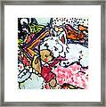 My Westie Milly And Her Toys Framed Print