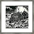 My Wyoming Cabin In Winter Framed Print