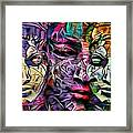 Mystic City Faces - Version B  Framed Print